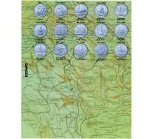 Разделители для монет Города-столицы государств, освобождённые советскими войсками на 14 монет