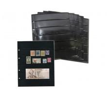 Лист для марок на 6 ячеек двухсторонний на чёрной основе