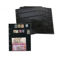 Лист для марок на 5 ячеек двухсторонний на чёрной основе
