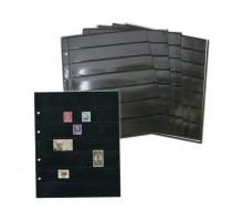 Лист для марок на 7 ячеек двухсторонний на чёрной основе