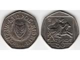 Кипр 50 центов 1991-2004