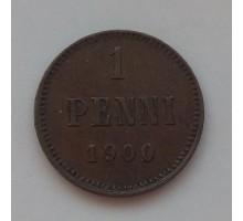 Русская Финляндия 1 пенни 1900 (1118)