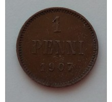 Русская Финляндия 1 пенни 1907 (1121)