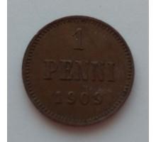 Русская Финляндия 1 пенни 1909 (1123)