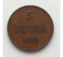 Русская Финляндия 5 пенни 1898 (1226)
