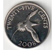Бермуды 25 центов 1999-2009