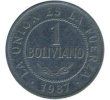Боливия 1 боливиано 1987-2008