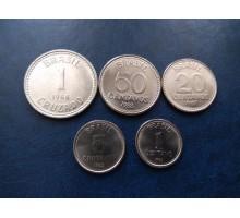 Бразилия 1986-1988. Набор 5 монет