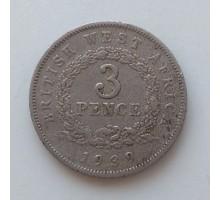Британская Западная Африка 3 пенса 1939