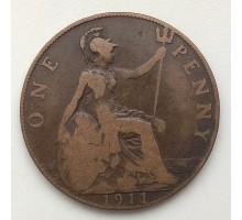 Великобритания 1 пенни 1911