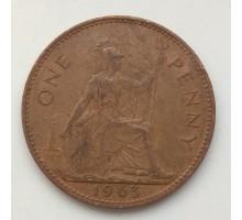 Великобритания 1 пенни 1963