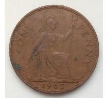 Великобритания 1 пенни 1965