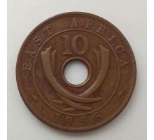 Британская Восточная Африка 10 центов 1936