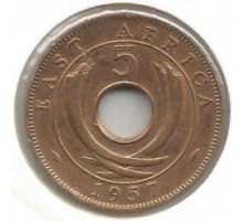 Британская Восточная Африка 5 центов 1957