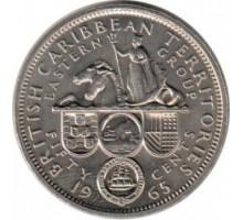 Восточные Карибские острова 50 центов 1955