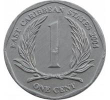 Восточные Карибы 1 цент 2002-2013