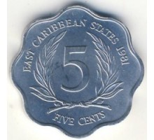 Восточные Карибы 5 центов 1981-2000