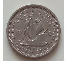 Восточные Карибы 10 центов 1955-1965