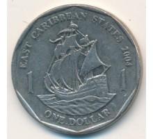 Восточные Карибы 1 доллар 2002-2007