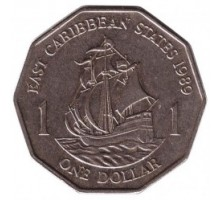 Восточные Карибы 1 доллар 1989-2000