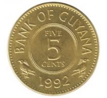 Гайана 5 центов 1967-1992