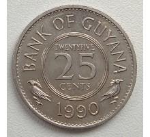 Гайана 25 центов 1967-1992