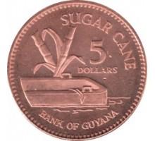 Гайана 5 долларов 1996-2015