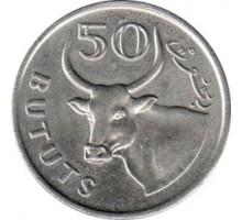 Гамбия 50 бутутов 1971