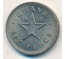 Гана 6 пенсов 1958