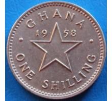 Гана 1 шиллинг 1958