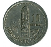 Гватемала 10 сентаво 1976-2008