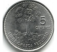 Гватемала 5 сентаво 2009-2014