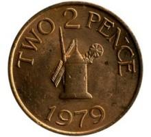 Гернси 2 пенса 1977-1981