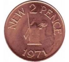 Гернси 2 новых пенса 1971