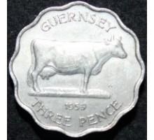 Гернси 3 пенса 1959-1966