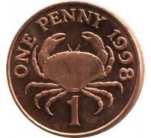 Гернси 1 пенни 1998-2012