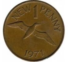 Гернси 1 новый пенни 1971
