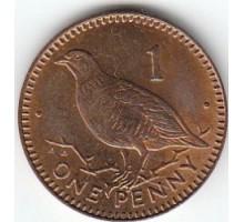 Гибралтар 1 пенни 1988-1995