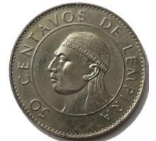 Гондурас 50 сентаво 1991-1994