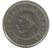 Гондурас 50 сентаво 1978-1990