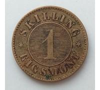 Дания 1 скиллинг 1863