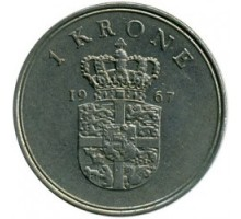 Дания 1 крона 1960-1972