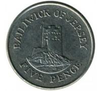 Джерси 5 пенсов 1990-1997