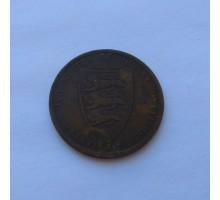 Джерси 1/12 шиллинга 1877
