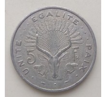 Джибути 5 франков 1977-1999