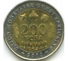 Западная Африка 200 франков 2003-2018