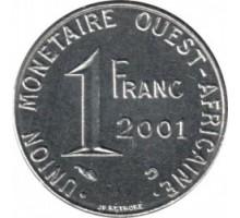 Западная Африка 1 франк 1976-2002