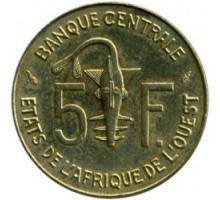Западная Африка 5 франков 1965-2019