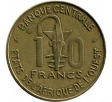Западная Африка 10 франков 1964-1981