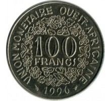 Западная Африка 100 франков 1967-2010